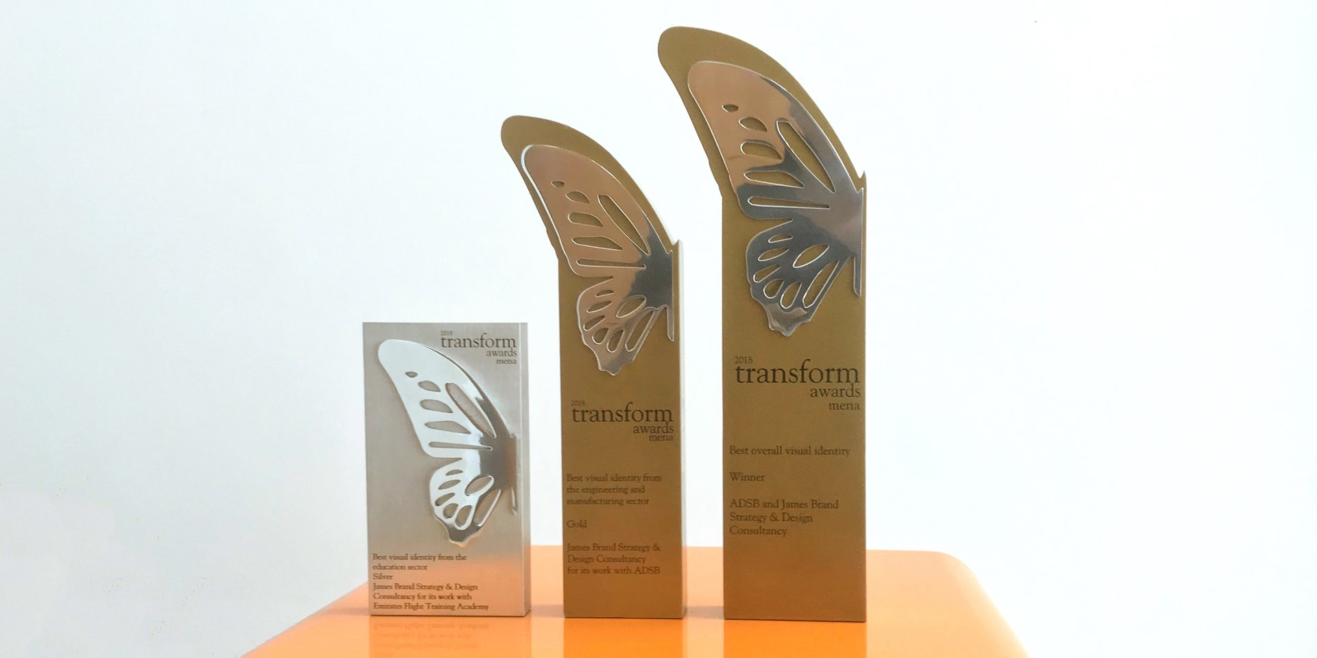 James Awarded Prestigious Award For Best Overall Visual Identity