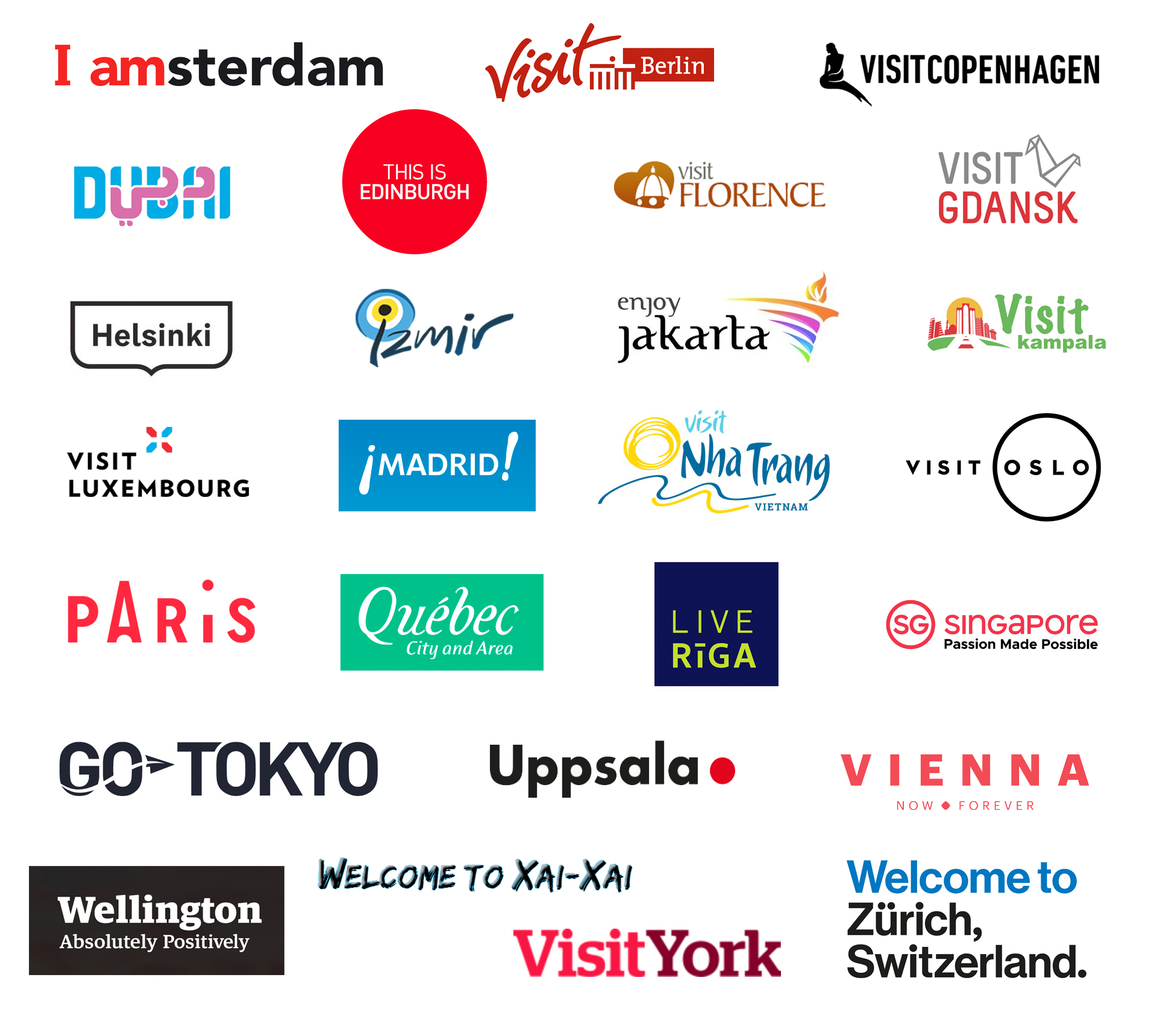 City Destination Brand Identities From A to Z
